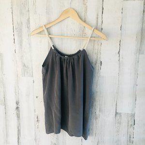 NWOT T-Bags Los Angeles Gray Silk Halter Cami Tank